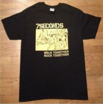 "7 SECONDS ""Walk together rock together"" T-SHIRT S, M"