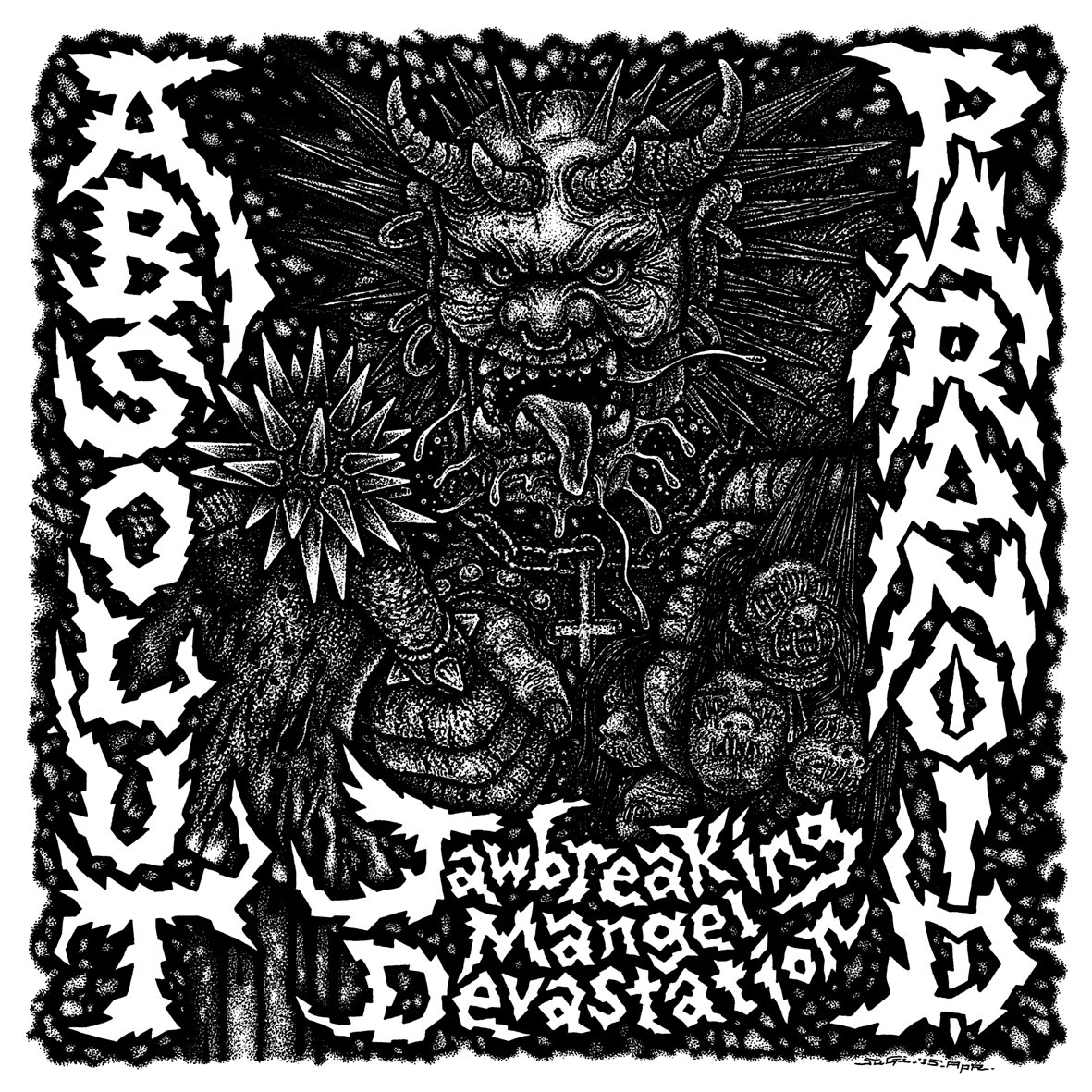 "ABSOLUT/PARANOID ""Jawbreaking mangel devastation"" LP"