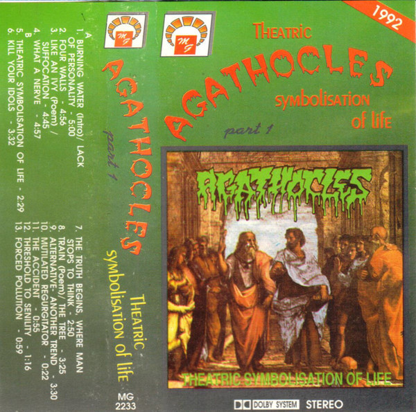 "AGATHOCLES ""Theatric symbolisation of life"" 2xCS"
