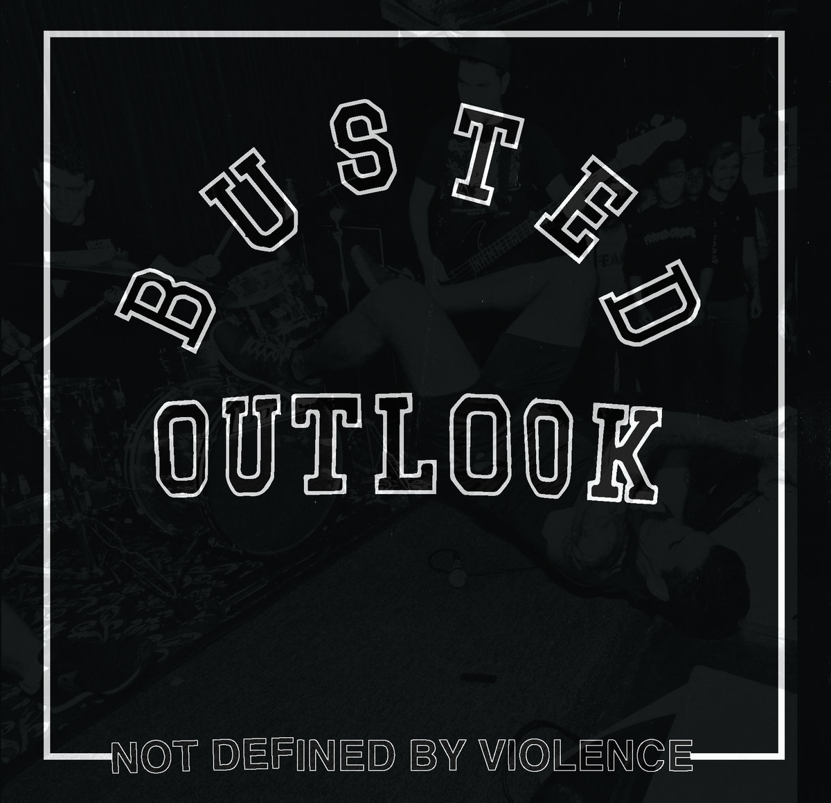 "BUSTED OUTLOOK ""Not defined by violence"" 12""  (black)"