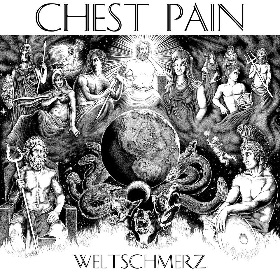 "CHEST PAIN ""Weltschmerz"" LP  (coke bottle clear)"