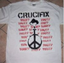 "CRUCIFIX ""War?"" T-SHIRT  M, L, XL"