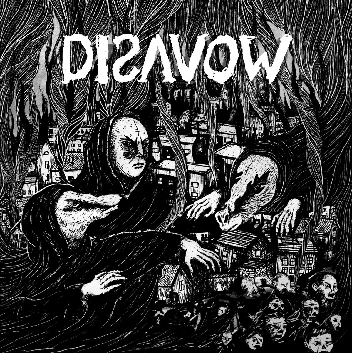 "DISAVOW ""Disavow"" 12"" (black)  PRE-ORDER"
