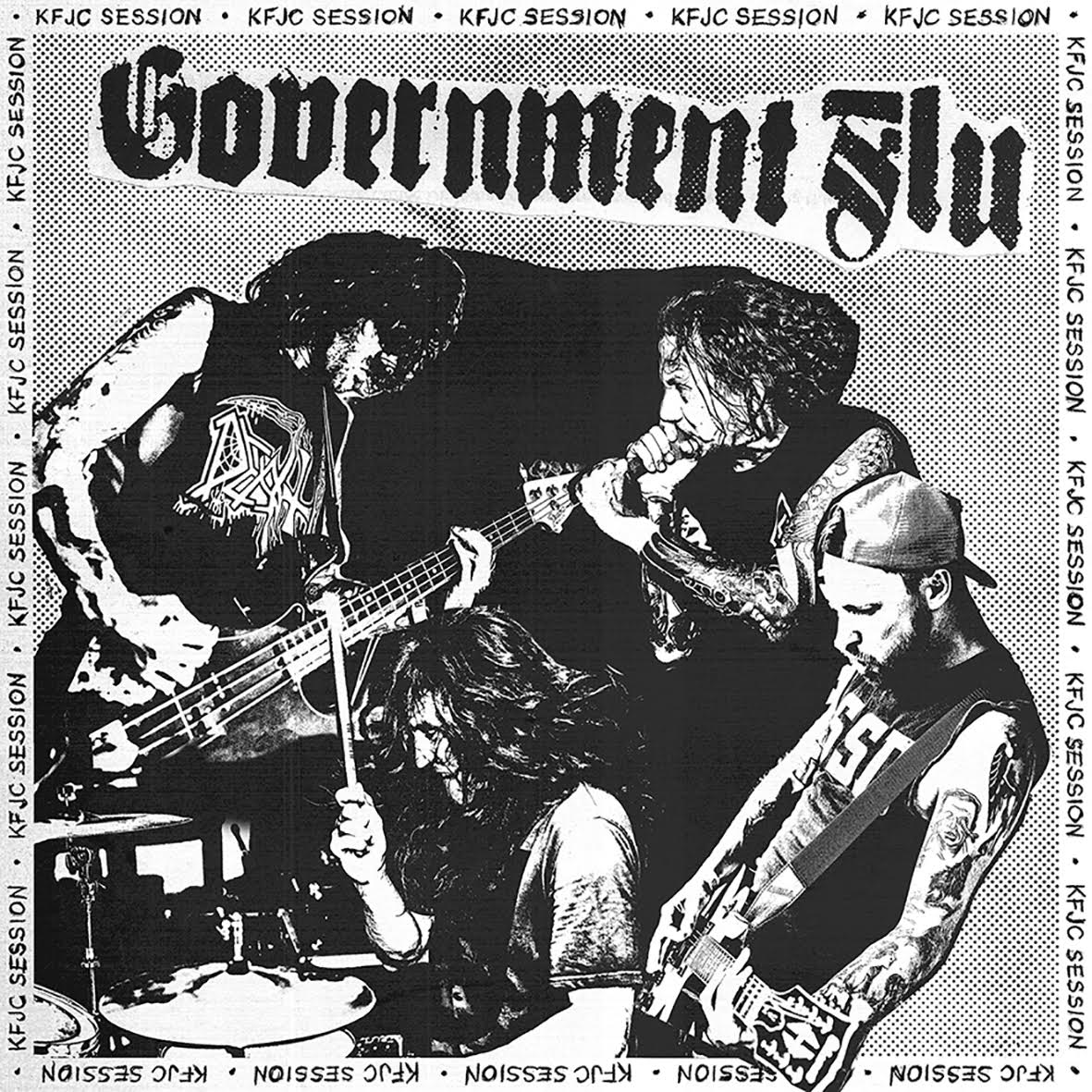 "GOVERNMENT FLU ""KFJC Session"" 7""flexi EP /ltd. white/"
