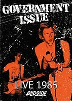 "GOVERNMENT ISSUE ""Live 1985"" DVD"