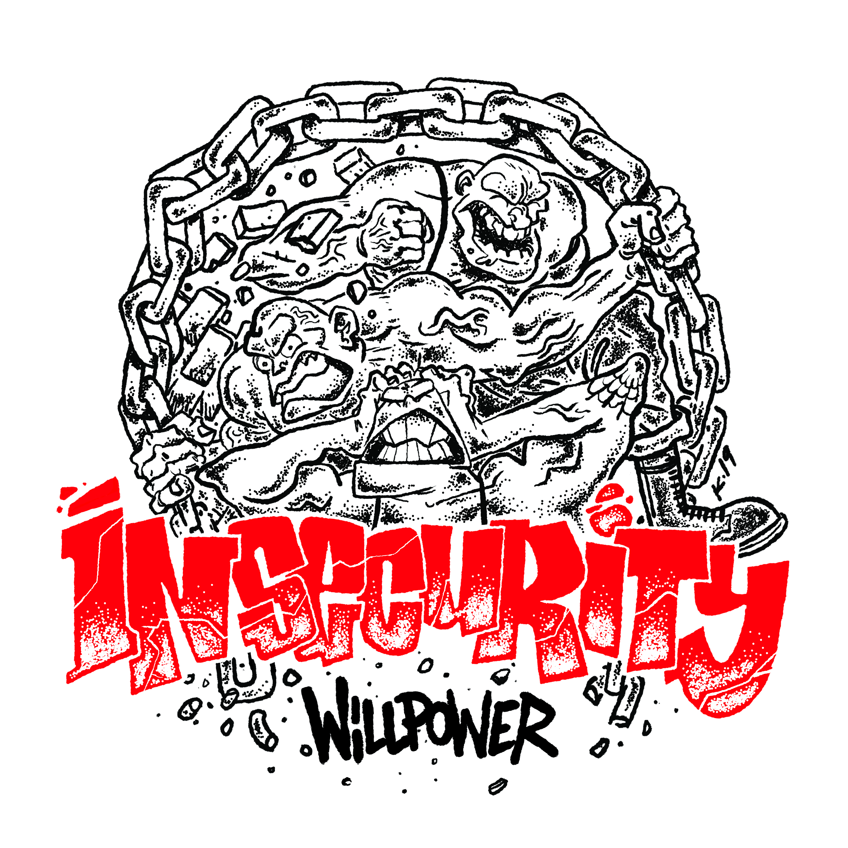 "INSECURITY ""Willpower"" 7""EP   (black)  PRE-ORDER"
