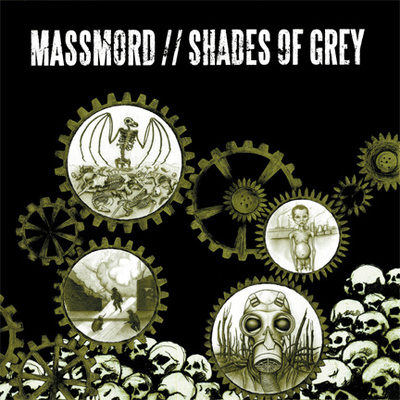 MASSMORD/SHADES OF GREY  split LP