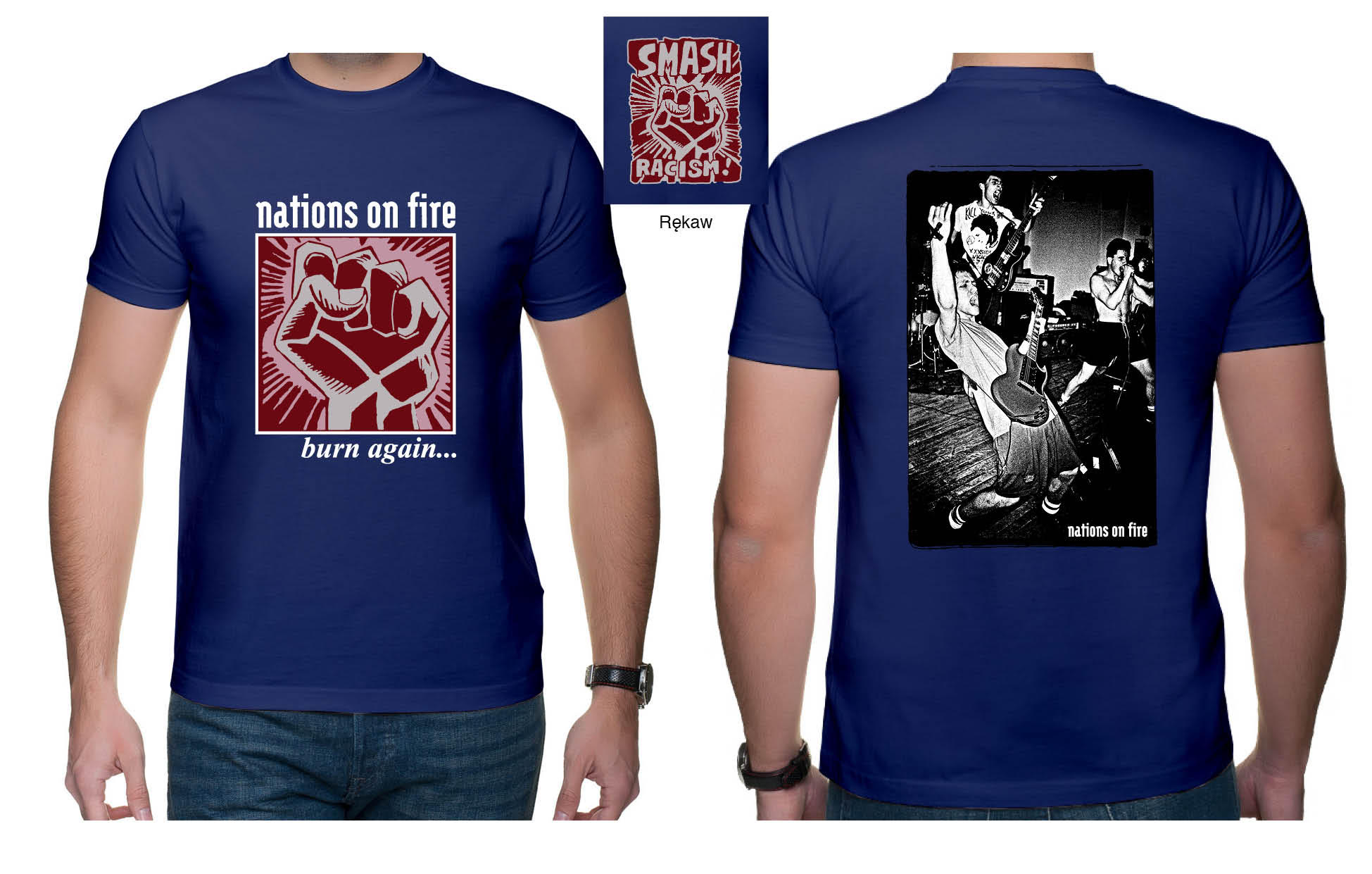 "NATIONS ON FIRE ""Burn again"" t-shirt PRE-ORDER"