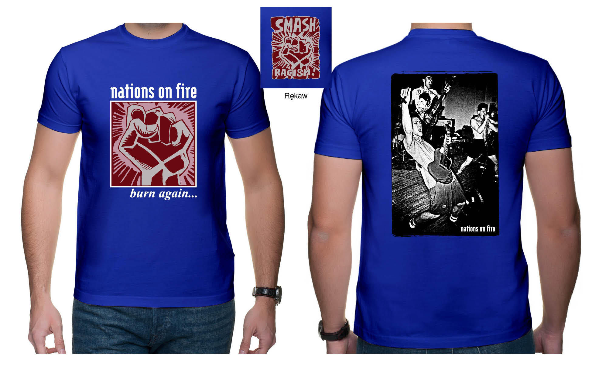 "NATIONS ON FIRE ""Burn again"" t-shirt S"