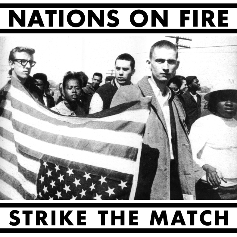 "NATIONS ON FIRE ""Strike the match"" LP  (blue)"