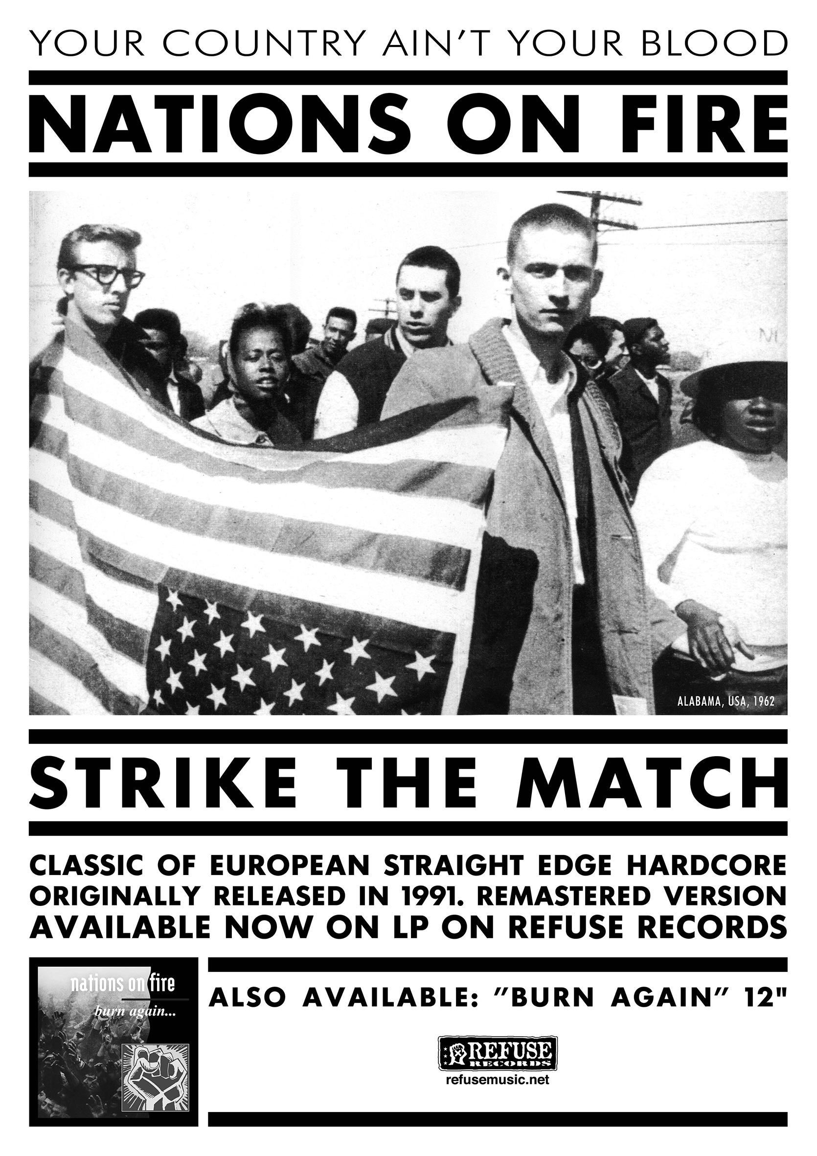 "NATIONS ON FIRE ""Strike the match"" poster"