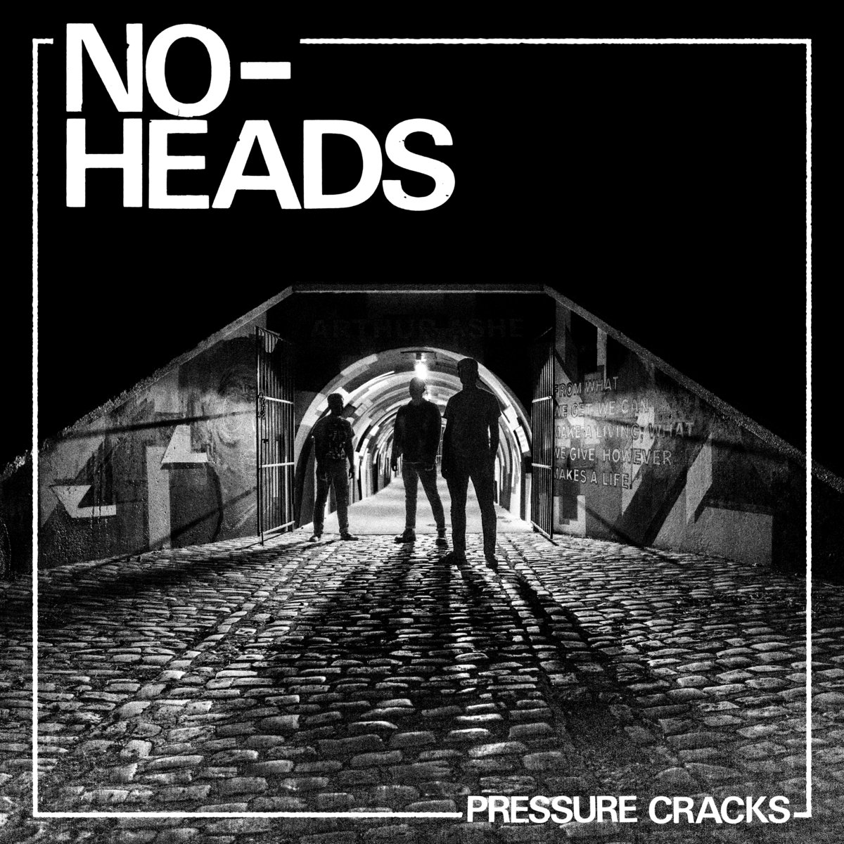 "NO-HEADS  ""Pressure cracks"" 12"" (black) PRE-ORDER"