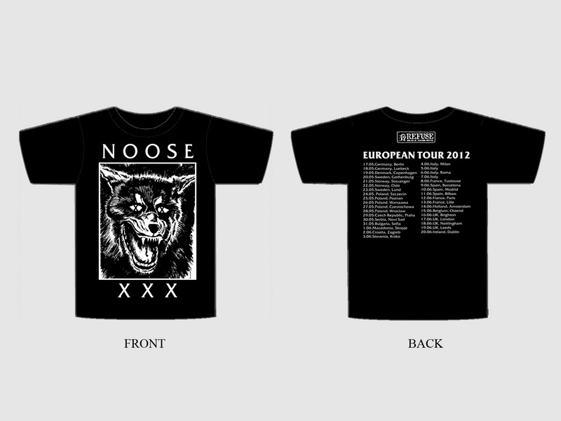 "NOOSE ""European tour 2012"" t-shirt"