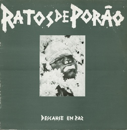 "RATOS DE PORAO ""Descanse em paz"" LP  (1st press 1986)"