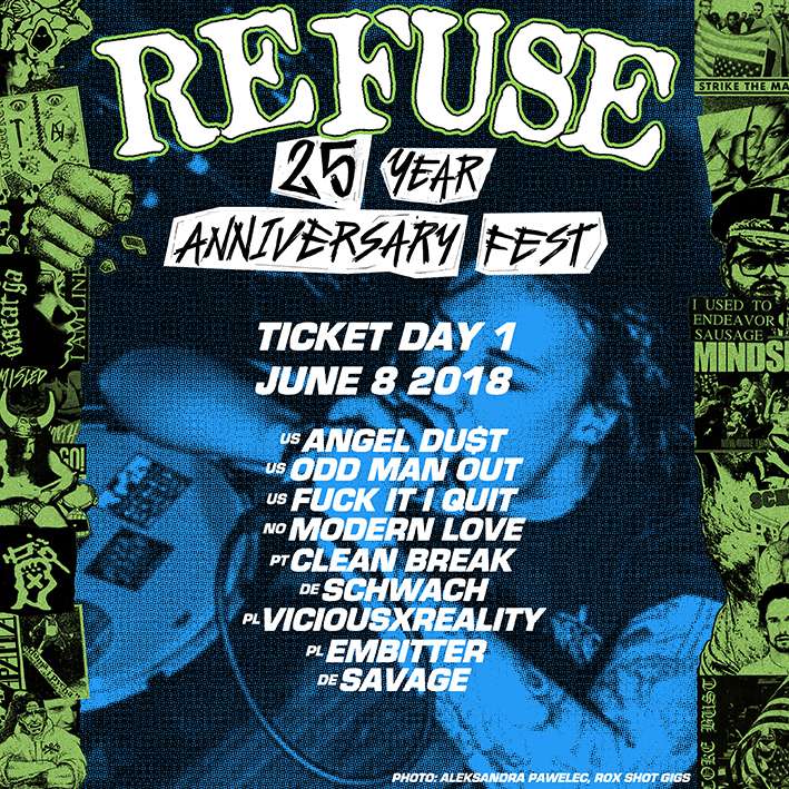 REFUSE 25 ANNIVERSARY FEST - DAY I TICKET