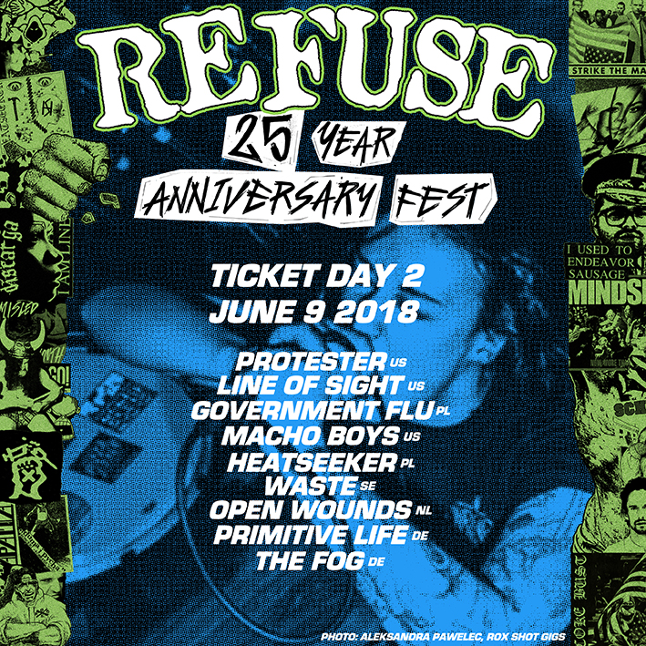 REFUSE 25 ANNIVERSARY FEST - DAY II TICKET