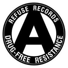 REFUSE RECORDS - DRUG FREE RESISTANCE pin