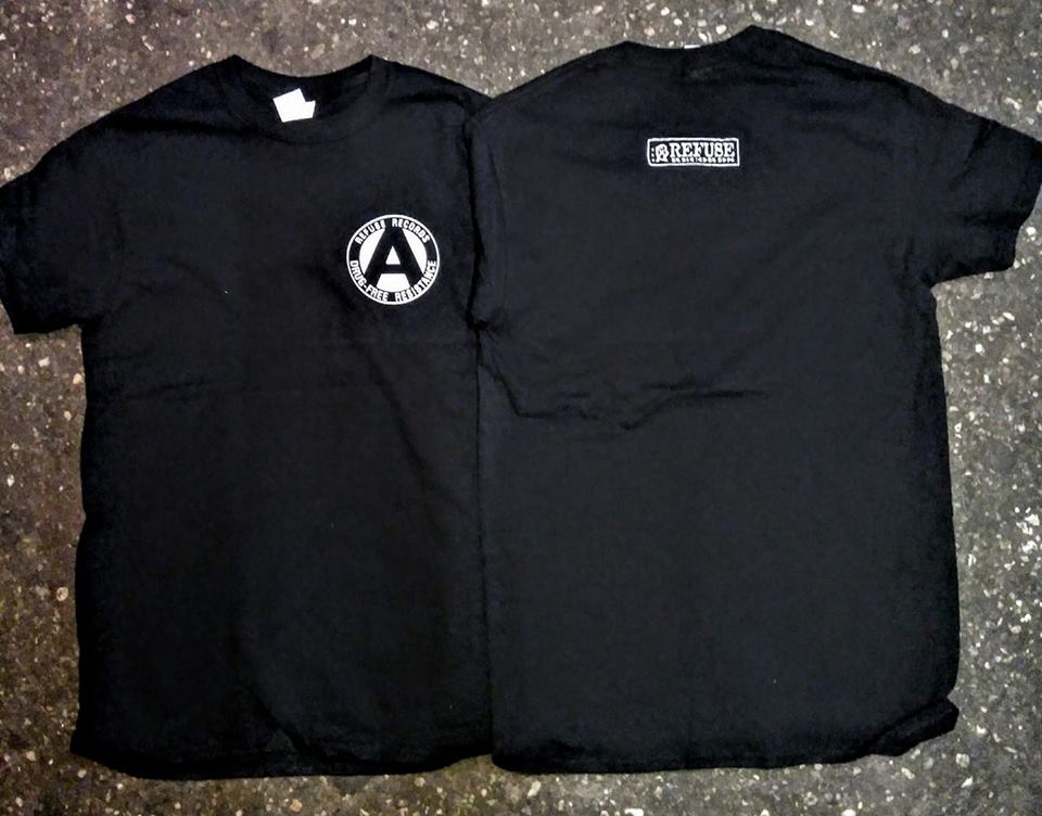 REFUSE RECORDS - DRUG FREE RESISTANCE T-SHIRT size: XL