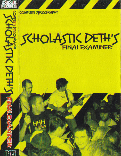 "SCHOLASTIC DETH ""Final examiner\"" CS"