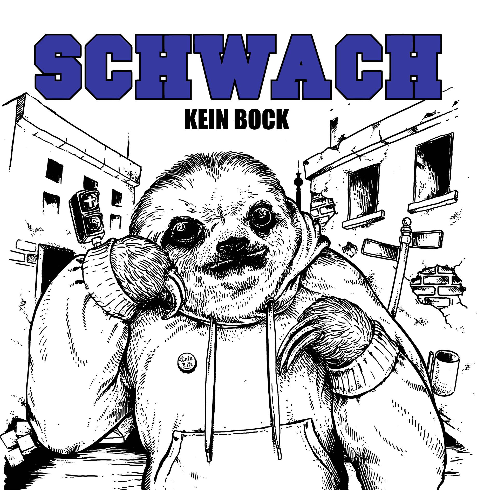 "SCHWACH ""Kein bock"" LP  (2nd press, purple)"