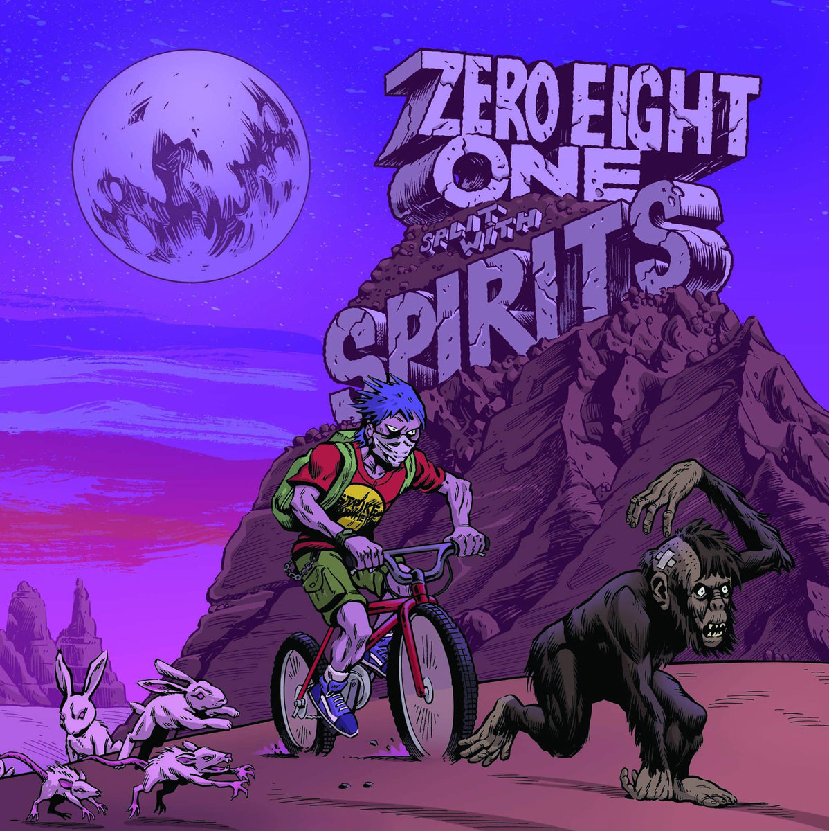SPIRITS/ZERO EIGHT ONE  split EP  (yellow)