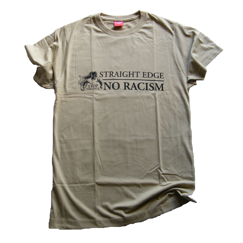 """Straight Edge - No Racism"" t-shirt   S,M"