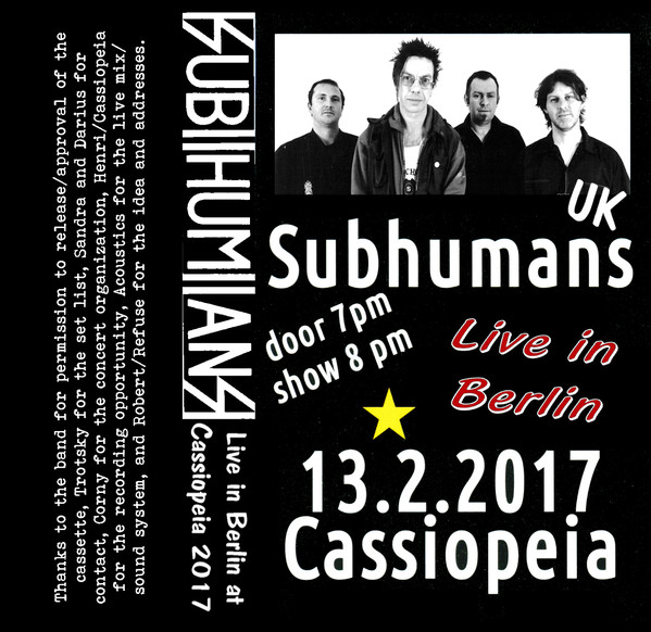 "SUBHUMANS ""Live in Berlin"" CS"
