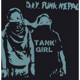 "TANK GIRL ""...Kids with guns+Choco fun"" LP (blue)"