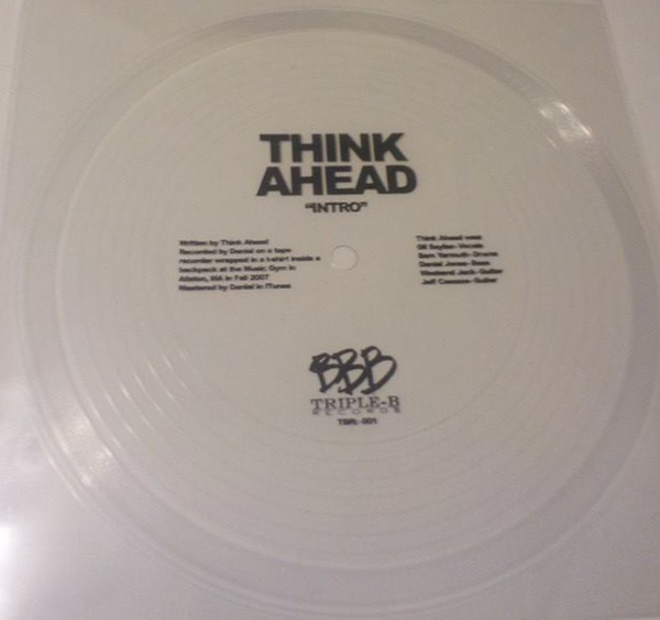 "THINK AHEAD ""Intro""  7""flexi"