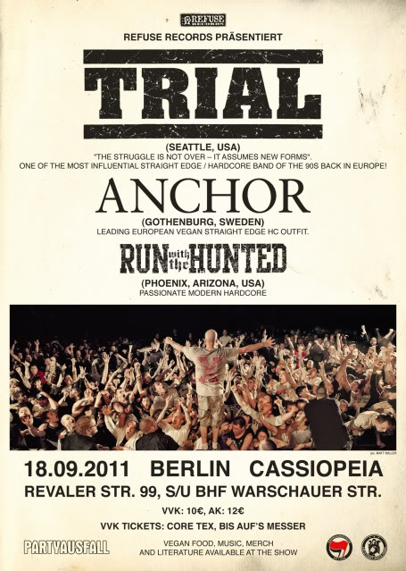 TRIAL/ANCHOR/RUN WITH THE HUNTED 2011