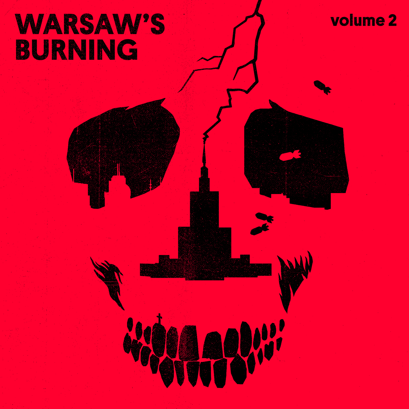 "V/A ""Warsaw's Burning vol. 2"" EP (black) PRE-ORDER"