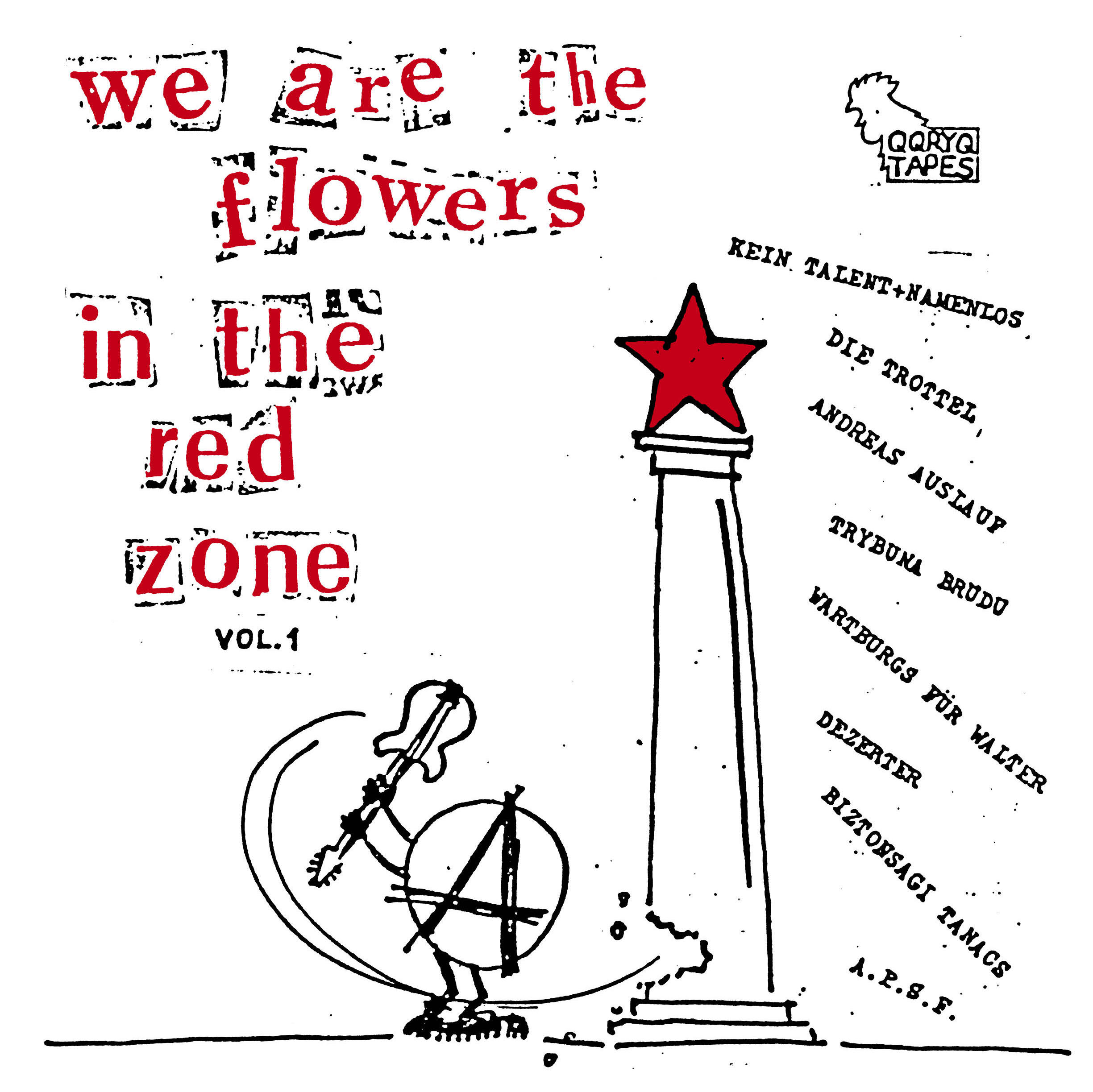"V/A ""We are the flowers in the red zone vol.1"" LP black"