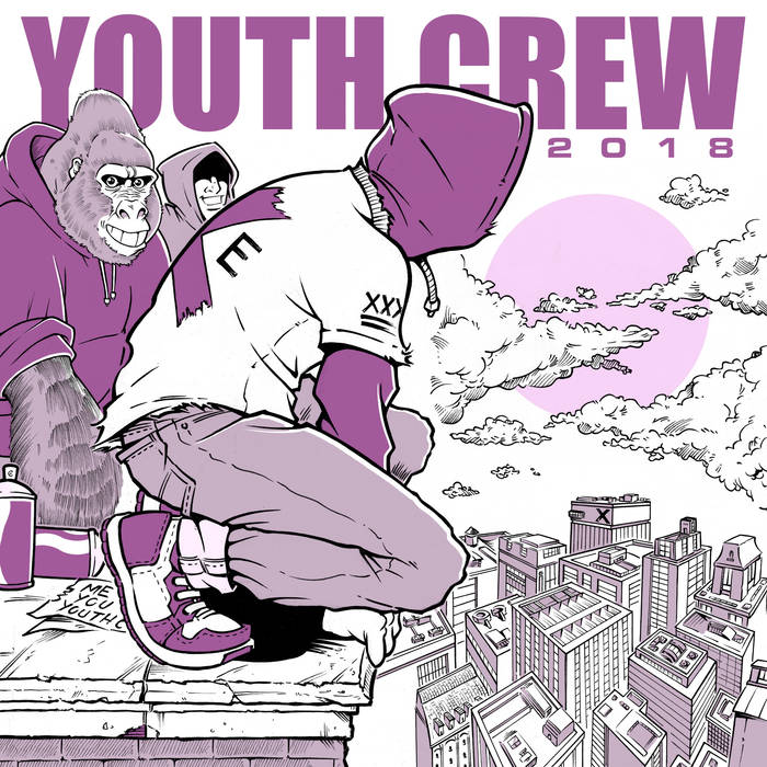 "V/A ""Youth Crew 2018"" EP  (purple)"