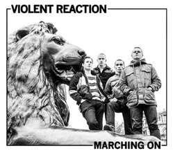 "VIOLENT REACTION ""Marching on"" LP  (green)"