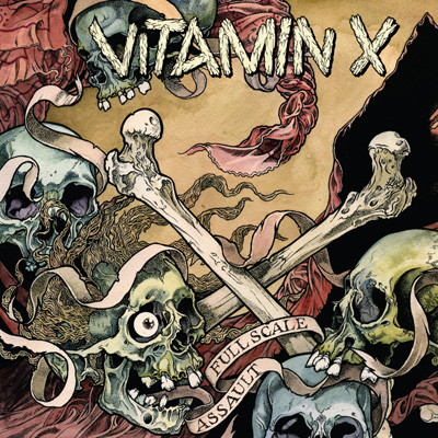 "VITAMIN X ""Full scale assault"" LP  /ltd. red/"