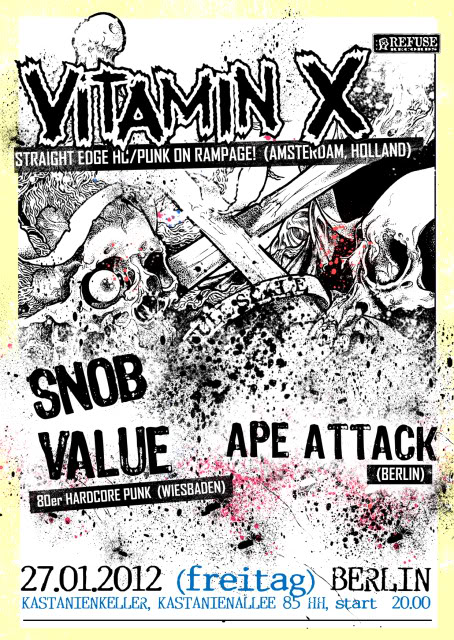 VITAMIN X/SNOB VALUE/APE ATTACK 2012 poster