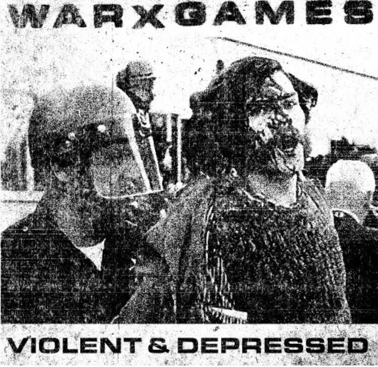 "WARXGAMES ""Violent and depressed"" 7""EP (black) PRE-ORDER"