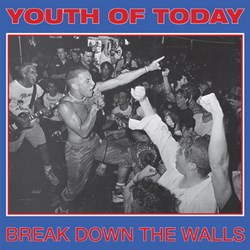 "YOUTH OF TODAY ""Break down the walls"" LP  (red)"